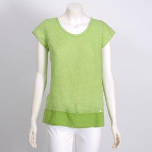Green blouse two fabrics