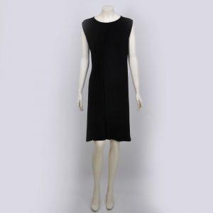 Vestido plisado negro