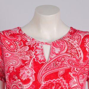 Vestido rojo estampado jacquard