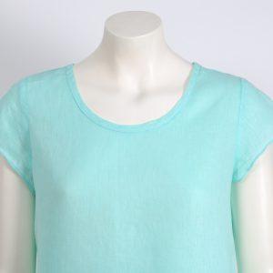 Blusa dos telas verde agua