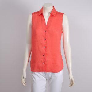 Blusa abierta color caldera