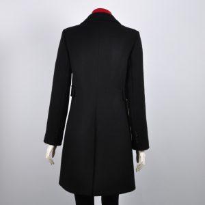 Abrigo entallado negro