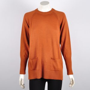 Jersey cuello redondo con bolsillos