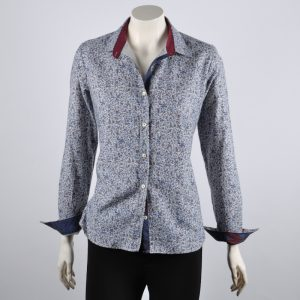 Shirt blouse with floral pattern